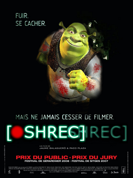 schrec - rec -affiche - poster- fun- photoshop - horror - schrek