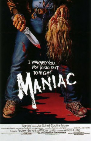Maniac-1980-William-Lustig-Joe-Spinnel-Caroline-Munro-Poster-affiche