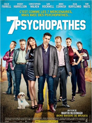 7-psychopathes-Colin-Farrel-Christopher-Walken-Sam-Rockwell-Woody-Harrelson-poster-affiche