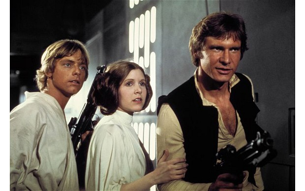 star wars - luke skywalker -princesse leia- han solo