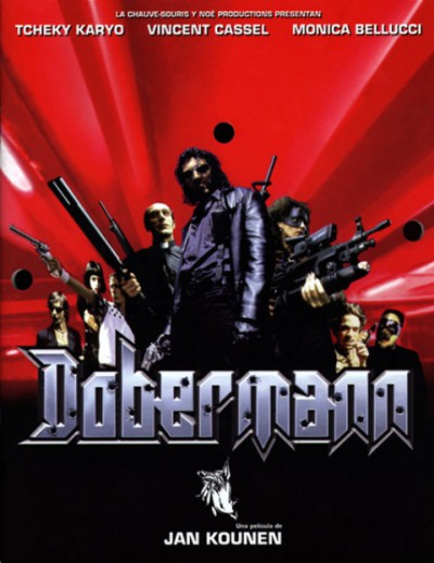 Dobermann-Jan-Kounen-Vincent-Cassel-Tcheky-Karyo-Monica-Bellucci-Roimain-Duris-poster-affiche