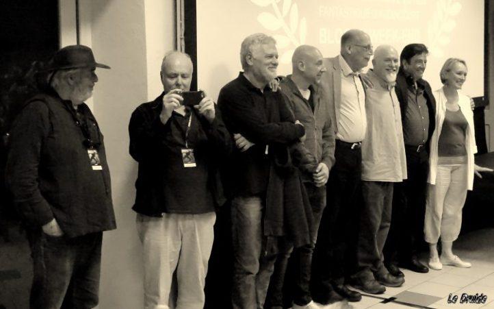 De gauche à droite: Alain Schlockoff, John McNaughton, Fabio Frizzi, Yannick Dahan, Jack Sholder, Nicholas Vince, Graham Masterton, Catriona MacColl